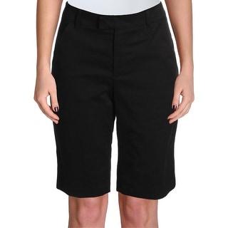 Ivanka Trump Womens Bermuda Shorts Cotton Flat Front