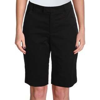 Ivanka Trump Womens Bermuda Shorts Cotton Flat Front