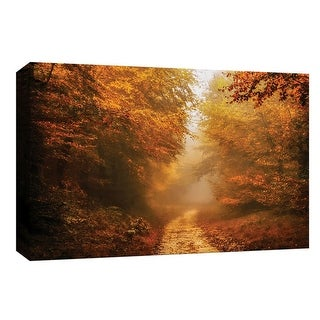 "PTM Images 9-148314  PTM Canvas Collection 8"" x 10"" - ""Autumnal Walk"" Giclee Forests Art Print on Canvas"