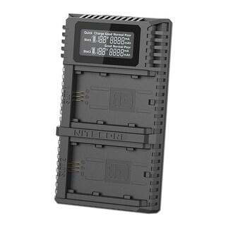 NITECORE USN4 Pro Digital QC 2.0 USB Charger for Sony NP-FZ100 Battery - Black