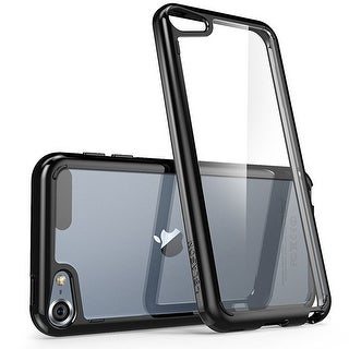 iPod Touch 6th Generation Case, i-Blason, Halo Scratch Resistant Hybrid Bumper Case-Clear/Black