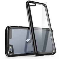 iPod Touch 6th Generation Case, i-Blason, Halo Scratch Resistant Hybrid Bumper Case-Clear/Black