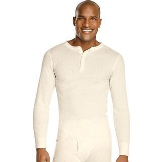 Hanes X-Temp Men's Organic Cotton Thermal Henley