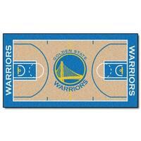 NBA Golden State Warriors NBA Court Large Non-Skid Mat Area Rug Runner