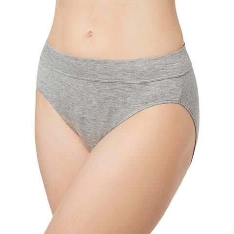 Bali Womens Plus Hi-Cut Panty Underwear Lingerie - Heather Grey - 9