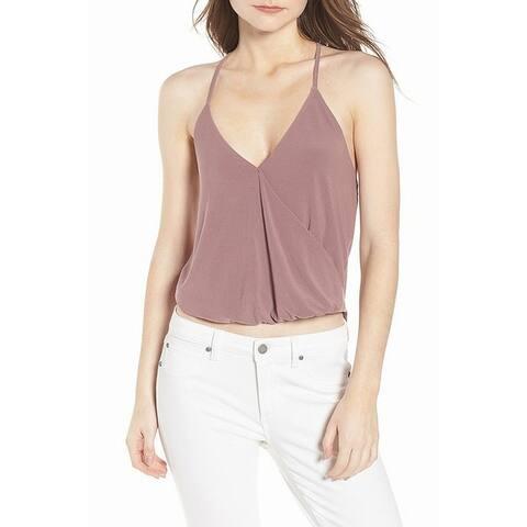 Leith Mauve Purple Womens Size XXL Twist-Front V-Neck Camisole Top