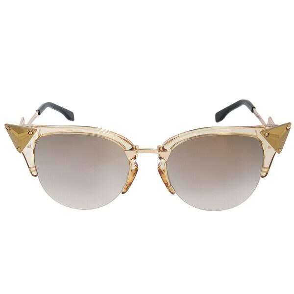 01f3689a7c2 Shop Fendi Iridia Cat Eye Sunglasses FF0041S 27L FQ 52 - On Sale ...