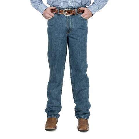 Cinch Western Denim Jeans Mens Bronze Label Slim Med Stone