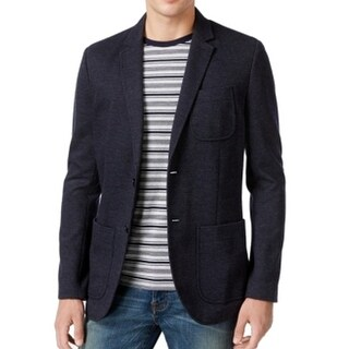Tommy Hilfiger NEW Navy Blue Men Size Large L Striped Two Button Blazer