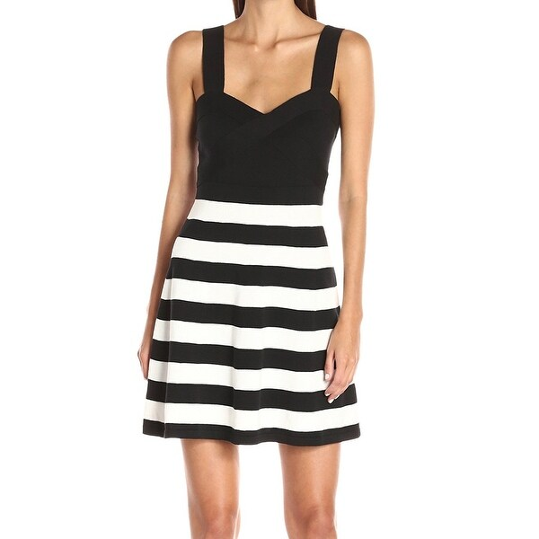 064419072d Shop Trina Trina Turk Black Womens Size Small S Striped Sheath Dress ...