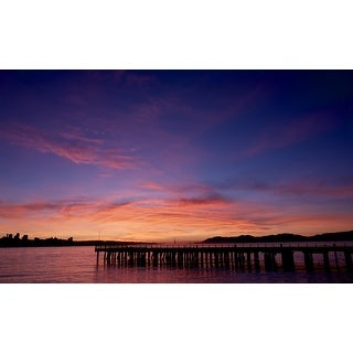Pier And Sunset Photograph Wall Art Canvas (More options available)