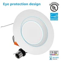 1/4/12 PACK Wet Location 5/6inch Dimmable Retrofit LED Recessed Downlight, 3000K/4000K/5000K