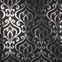 Brewster 2542-20752 Venus Charcoal Foil Mini Damask Wallpaper - N/A