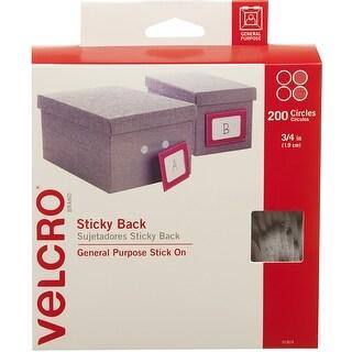 """Velcro(R) Brand Sticky Back Coins .75"""" 200/Pkg-White"""