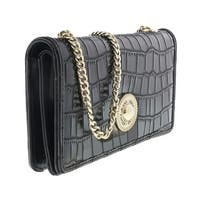 Versace  EE3VQBPG3 E899 Black Wallet On Chain - 7.5-4-1