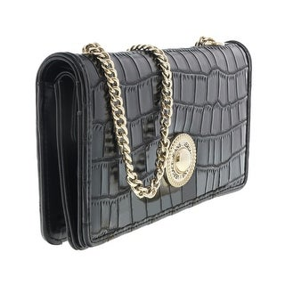 Versace EE3VQBPG3 E899 Black Wallet On Chain - 7.5-4-1