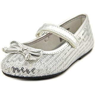 Rachel Shoes Lil Margie Youth Round Toe Synthetic Silver Mary Janes