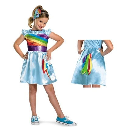842adf7eb0bdd Shop Rainbow Dash TV Classic My Little Pony Girls Costume - XS (size 3T-4T)  - Free Shipping On Orders Over $45 - Overstock - 14671516