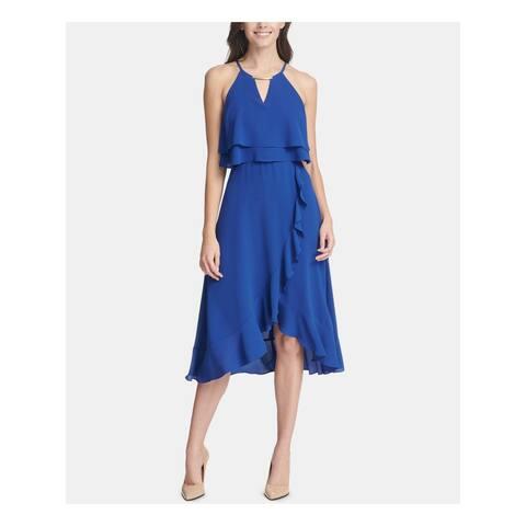 KENSIE Blue Sleeveless Knee Length Dress 8