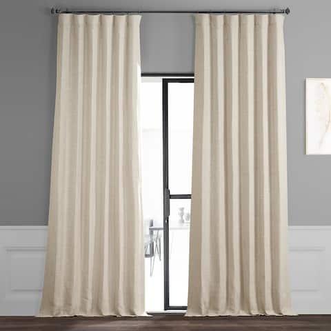 Exclusive Fabrics Oat Cream Bellino Room Darkening Curtain (1 Panel)
