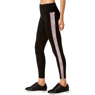 Link to Calvin Klein Womens Velour Inset Yoga Pants, black, Small Similar Items in Athletic Clothing