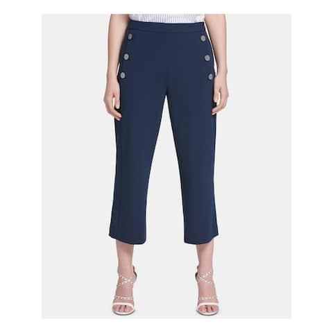 DKNY Womens Navy Pocketed Straight leg Pants Size 6