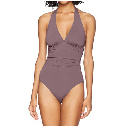 Carve Designs Purple Womens Size Small S UPF 50 One-Piece Swimwear