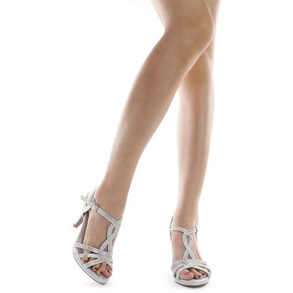 DREAM PAIRS Amore Sandales Talons Stilettos Mode Bout Ouvert pour Femme