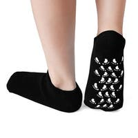 1 Pair Soften Moisturising Exfoliating Spa Treatment Non-slip Gel Socks Black