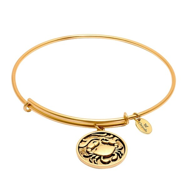 Chrysalis Expandable Crab Bangle Bracelet in 14K Gold-Plated Brass - YELLOW