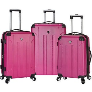 Travelers Club Chicago 3 Piece Expandable 4-Wheel Luggage Set Pink - us one size (size none)