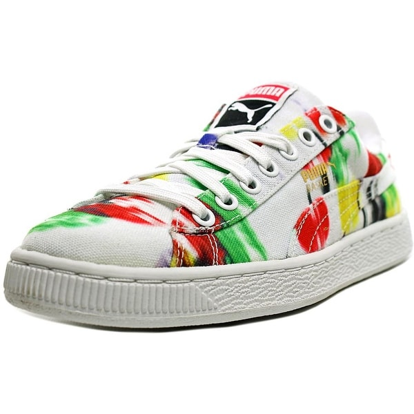 brand new 8aa65 28cc6 Puma Basket Classic CVS Blur Women Round Toe Canvas Multi Color Sneakers