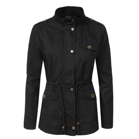 NE PEOPLE Womens Military Anorak Jacket (NEWJ200)