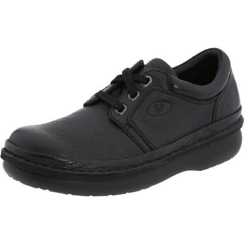 Propet Mens Villager Walking Shoes Leather Pebbled