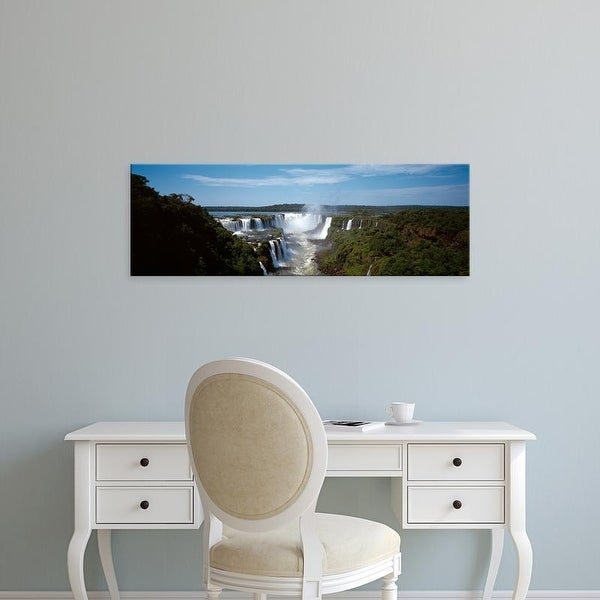 Easy Art Prints Panoramic Images's 'Iguacu Falls, Iguacu River, Iguacu National Park, Parana State, Brazil' Canvas Art