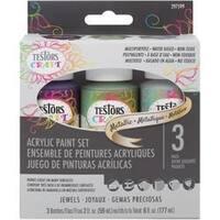 Metallic Jewels - Testors Craft Acrylic Paint Set 3/Pkg