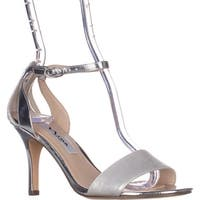 Nina Venetia Ankle Strap Dress Sandals, Silver Star