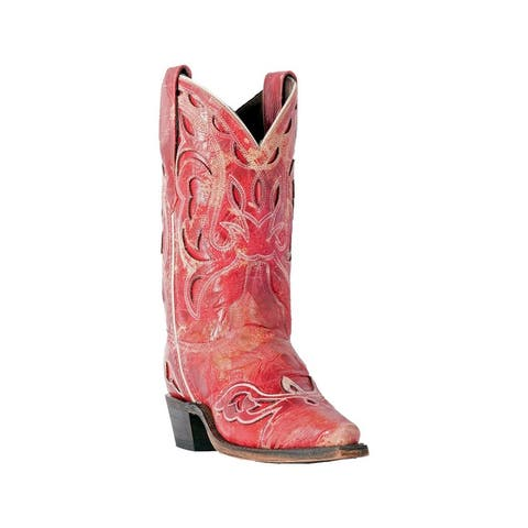 Laredo Fashion Boots Womens No More Drama Distressed Leather Red