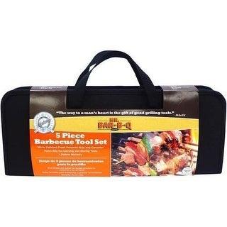 Mr Bar B Q - 94178X - Br 5 Pc Grill Tool Set W Case