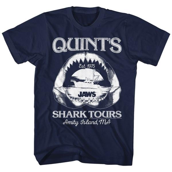 Jaws Shark Tours Mens Crew Tee T Shirt