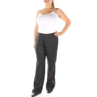 NINE WEST $99 Womens New 1180 Black Plaid Wear To Work Pants Plus 16W B+B
