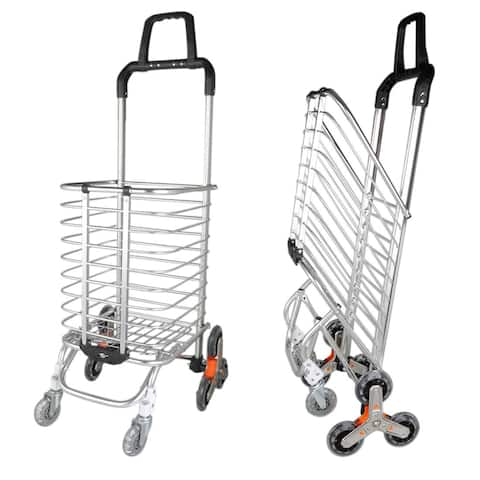 Stair Climber Foldable Shopping Cart 15.6 x 20.5 x 41 inches
