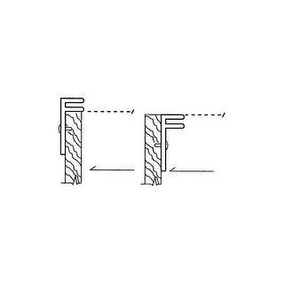 Rev-A-Shelf CDR-21-A BDC Series Pair of F-Channel Rail Kit with Mounting Screws
