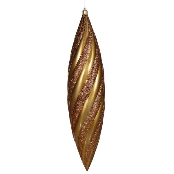 """25"""" Antique Gold Matte-Glitt Swirl Drop"""