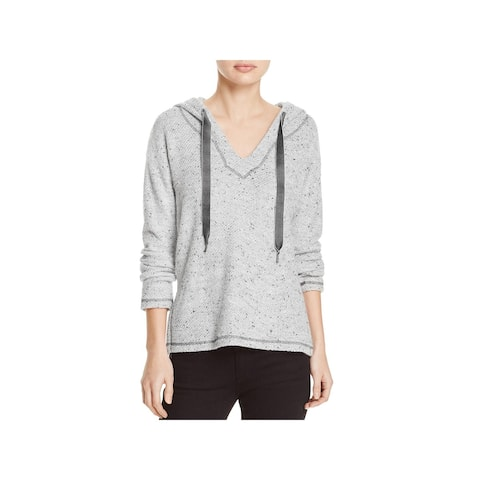 Splendid Womens Pullover Sweater Marled Hooded