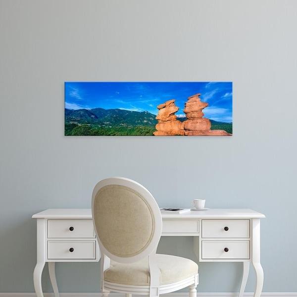 Easy Art Prints Panoramic Image 'Siamese Twins Rocks, Garden of the Gods, Colorado Springs, Colorado, USA' Canvas Art