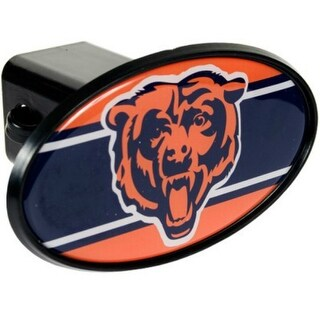 Great American Products Chicago Bears Oval Trailer Hitch Cover Oval Trailer Hitch Cover