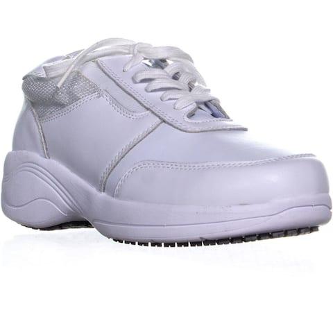 Easy Street Middy Walking Sneakers, White/Mesh