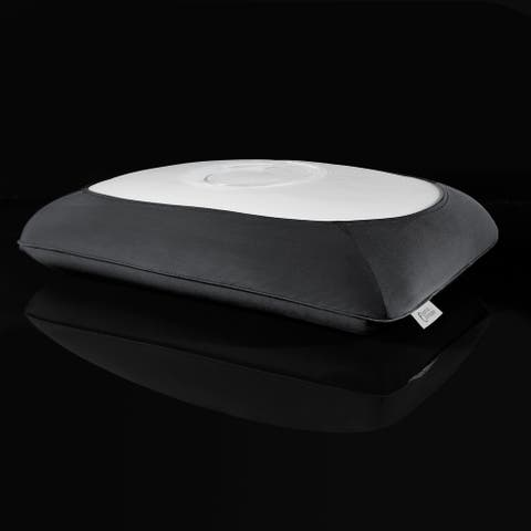 Hydraluxe+ Gel Cooling Memory Foam Pillow with Antimicrobial Cover - White