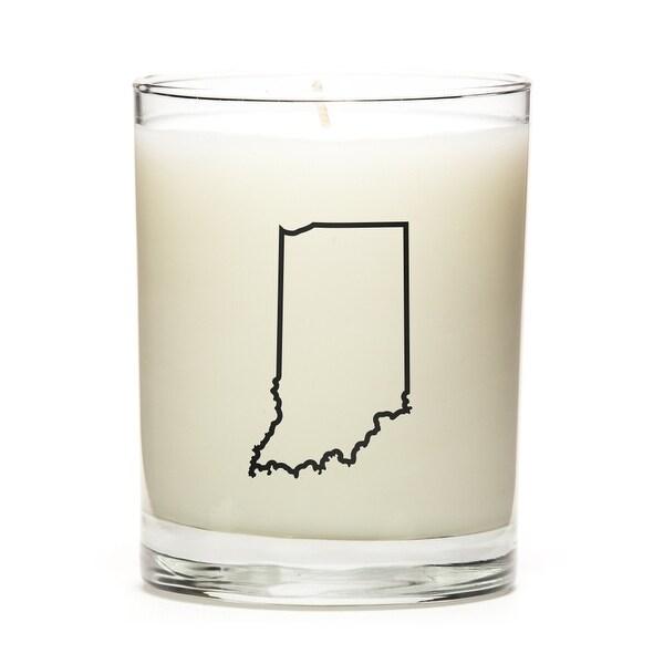 Custom Gift - Map Outline of Indiana U.S State, Apple Cinnamon